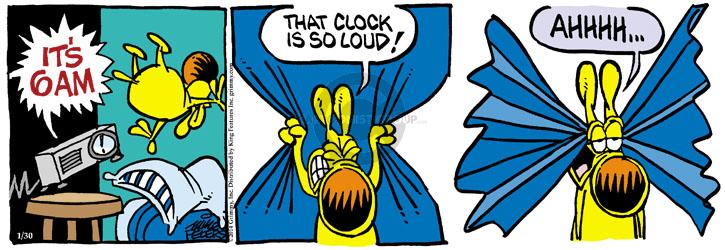 Cartoonist Mike Peters  Mother Goose and Grimm 2014-01-30 alarm