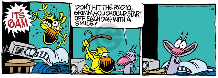 Cartoonist Mike Peters  Mother Goose and Grimm 2014-01-31 alarm