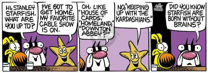 Comic Strip Mike Peters  Mother Goose and Grimm 2014-02-06 television show
