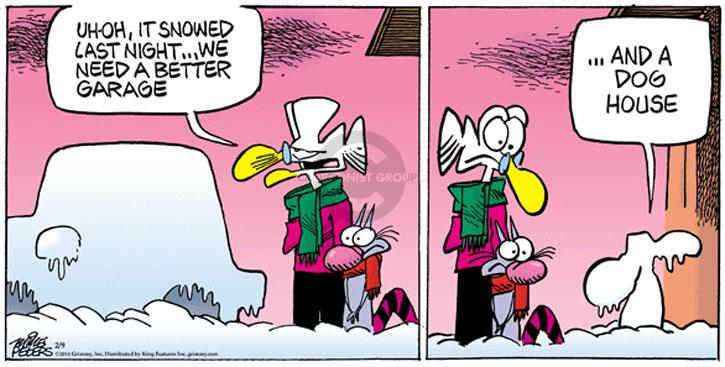 Cartoonist Mike Peters  Mother Goose and Grimm 2014-02-09 doghouse
