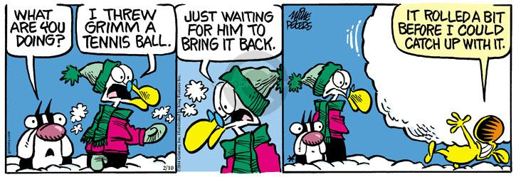 Comic Strip Mike Peters  Mother Goose and Grimm 2014-02-10 throw up