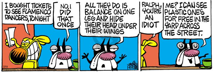 Comic Strip Mike Peters  Mother Goose and Grimm 2014-02-11 idiot