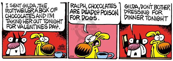 Comic Strip Mike Peters  Mother Goose and Grimm 2014-02-14 candy