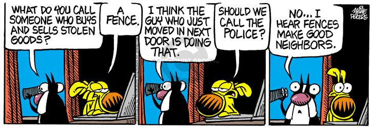 Cartoonist Mike Peters  Mother Goose and Grimm 2014-02-15 neighborhood