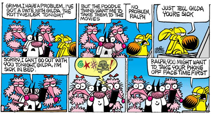 Cartoonist Mike Peters  Mother Goose and Grimm 2014-02-23 tonight
