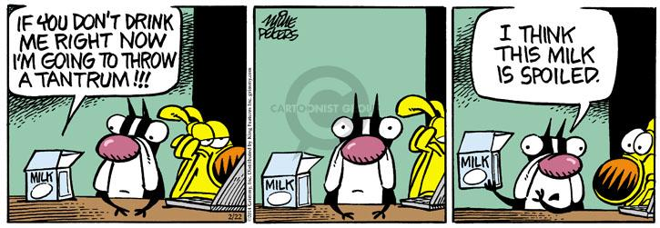 Comic Strip Mike Peters  Mother Goose and Grimm 2014-02-22 milk