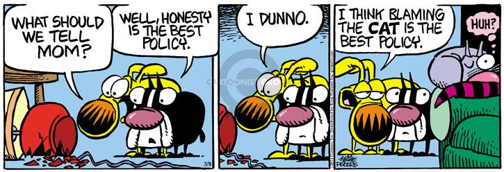 Comic Strip Mike Peters  Mother Goose and Grimm 2014-03-08 huh