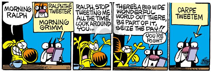 Comic Strip Mike Peters  Mother Goose and Grimm 2014-03-03 social network