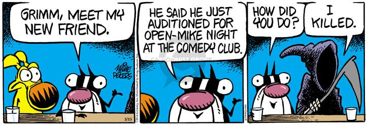 Comic Strip Mike Peters  Mother Goose and Grimm 2014-03-15 club