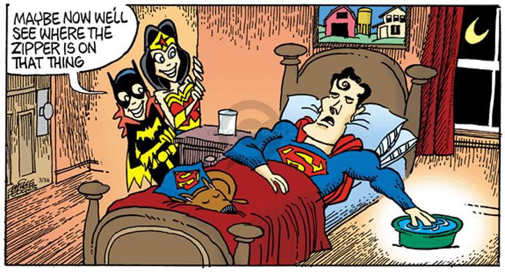 Cartoonist Mike Peters  Mother Goose and Grimm 2014-03-23 prank