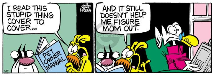 Comic Strip Mike Peters  Mother Goose and Grimm 2014-03-17 instruction