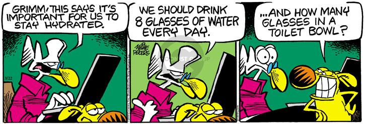Comic Strip Mike Peters  Mother Goose and Grimm 2014-03-22 glass of water
