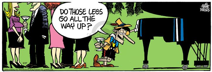 Cartoonist Mike Peters  Mother Goose and Grimm 2014-03-27 line-up