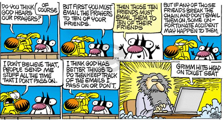 Cartoonist Mike Peters  Mother Goose and Grimm 2014-03-30 letter