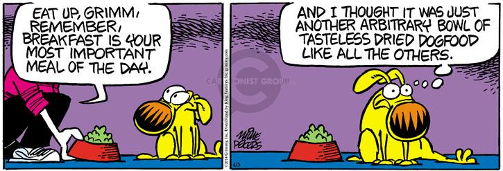 Comic Strip Mike Peters  Mother Goose and Grimm 2014-04-05 food