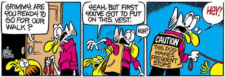 Cartoonist Mike Peters  Mother Goose and Grimm 2014-04-08 ready