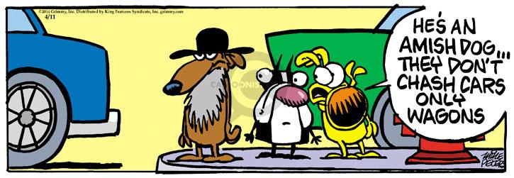 Comic Strip Mike Peters  Mother Goose and Grimm 2014-04-11 transportation