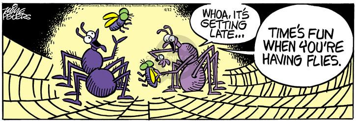 Comic Strip Mike Peters  Mother Goose and Grimm 2014-04-12 time flies