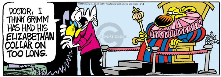 Comic Strip Mike Peters  Mother Goose and Grimm 2014-04-14 attitude