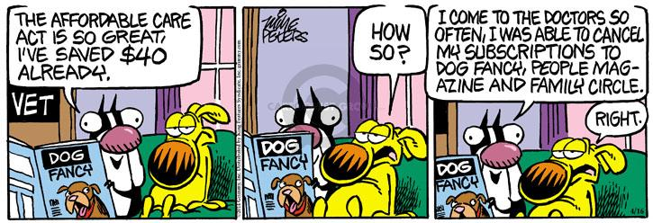 Comic Strip Mike Peters  Mother Goose and Grimm 2014-04-16 visit