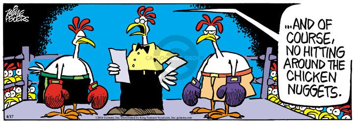 Comic Strip Mike Peters  Mother Goose and Grimm 2014-04-17 chicken