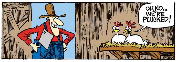 Cartoonist Mike Peters  Mother Goose and Grimm 2014-04-18 meat