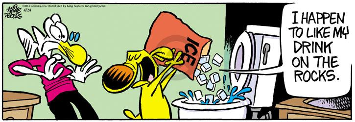 Comic Strip Mike Peters  Mother Goose and Grimm 2014-04-24 drinking water
