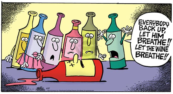Comic Strip Mike Peters  Mother Goose and Grimm 2014-04-27 wine