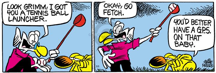 Comic Strip Mike Peters  Mother Goose and Grimm 2014-05-01 tennis