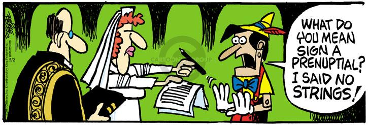 Comic Strip Mike Peters  Mother Goose and Grimm 2014-05-02 contract