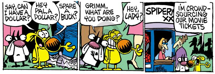 Comic Strip Mike Peters  Mother Goose and Grimm 2014-05-07 crowd