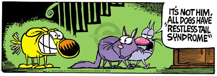 Comic Strip Mike Peters  Mother Goose and Grimm 2014-05-12 movement