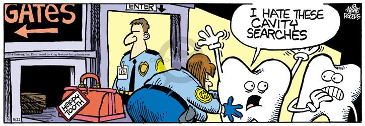 Comic Strip Mike Peters  Mother Goose and Grimm 2014-05-22 tooth