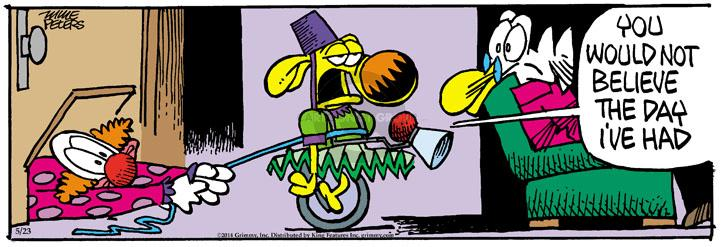 Comic Strip Mike Peters  Mother Goose and Grimm 2014-05-23 clown