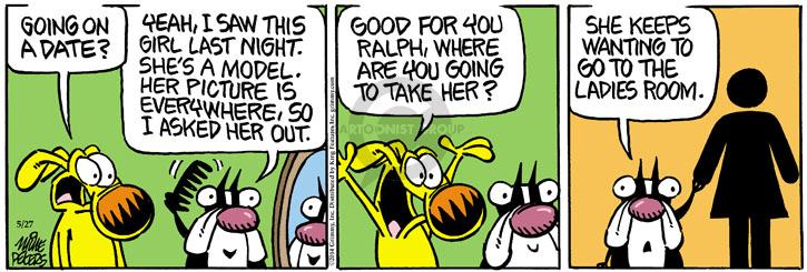 Comic Strip Mike Peters  Mother Goose and Grimm 2014-05-27 symbol