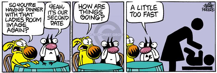 Comic Strip Mike Peters  Mother Goose and Grimm 2014-05-28 family dinner