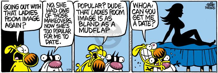 Cartoonist Mike Peters  Mother Goose and Grimm 2014-05-29 bare