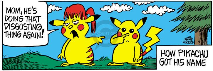 Comic Strip Mike Peters  Mother Goose and Grimm 2014-05-31 gross