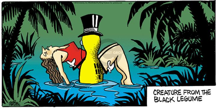Comic Strip Mike Peters  Mother Goose and Grimm 2014-06-01 peanut