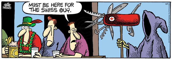Cartoonist Mike Peters  Mother Goose and Grimm 2014-06-03 grim reaper