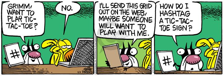 Comic Strip Mike Peters  Mother Goose and Grimm 2014-06-04 toe