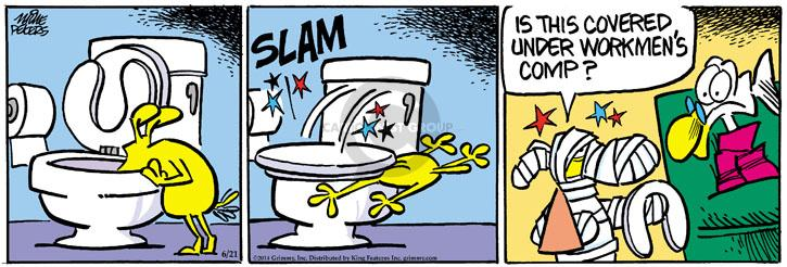 Comic Strip Mike Peters  Mother Goose and Grimm 2014-06-21 injure