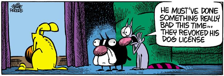 Comic Strip Mike Peters  Mother Goose and Grimm 2014-07-12 crime