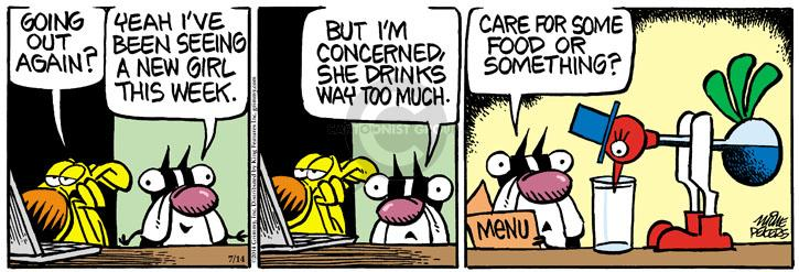 Cartoonist Mike Peters  Mother Goose and Grimm 2014-07-14 concern