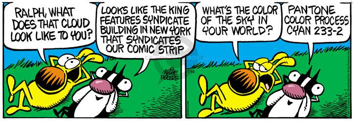 Comic Strip Mike Peters  Mother Goose and Grimm 2014-07-16 world