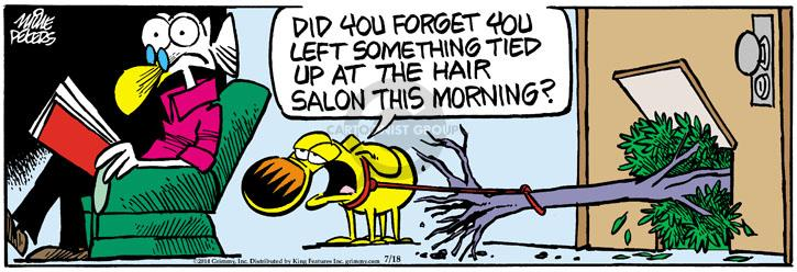 Cartoonist Mike Peters  Mother Goose and Grimm 2014-07-18 leash