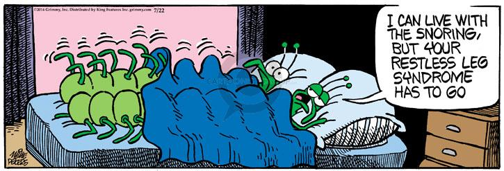 Cartoonist Mike Peters  Mother Goose and Grimm 2014-07-22 leg