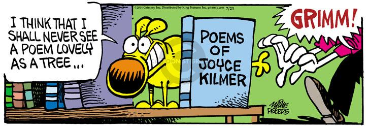 Cartoonist Mike Peters  Mother Goose and Grimm 2014-07-23 lovely