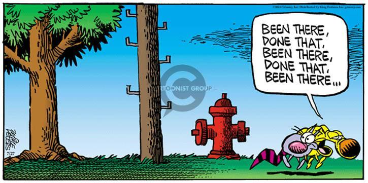 Comic Strip Mike Peters  Mother Goose and Grimm 2014-07-27 urinate
