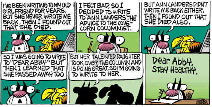 Comic Strip Mike Peters  Mother Goose and Grimm 2014-08-10 write